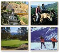 Area attractions: the durango silverton railroad, horseback riding, golf, skiing