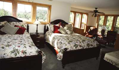The lower Master Bedroom